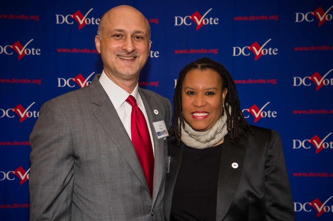 National Conference on Citizenship President and former DC Vote Executive Director Ilir Zherka with DC Vote Executive Director Kimberly Perry. Photo credit: Travis Vaughn.