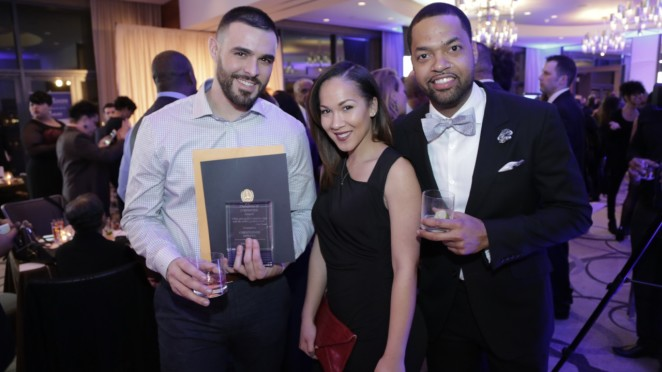 CÎROC Military Ambassador and US Marine Corps Captain Christopher Minaya, Naya Evans and CÎROC Ambassador Ke'Shawn Forbes
